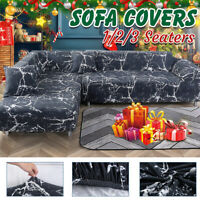 2/3 Seater Elastic Sofa Covers Slipcover Stretch Couch Protector + Pillowcase a