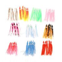 "50pcs 3.5"" Soft Octopus Squid Skirts Paillette lure Fluke Jigs Saltwater Lures"