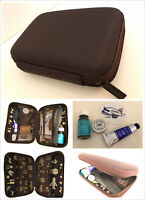 TAIWAN China Airlines FIRST CLASS 2-Sided TRAVEL Toiletry HARD CASE &Amenity Kit