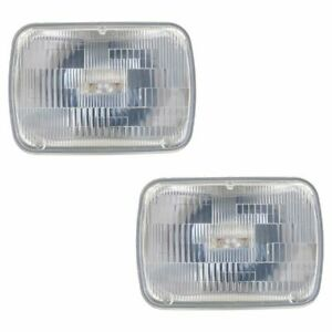 Philips CrystalVision Ultra Sealed Beam H6054 Halogen Clear Headlight Bulb Pair
