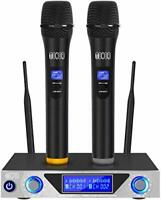 TONOR VHF Handheld Wireless Microphone System with Dual Hand Held Dynamic