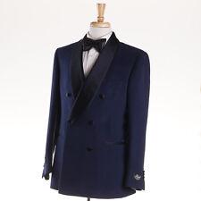 NWT $2995 BELVEST Shawl Collar Dark Blue Silk Dinner Jacket 40 R Tuxedo Blazer