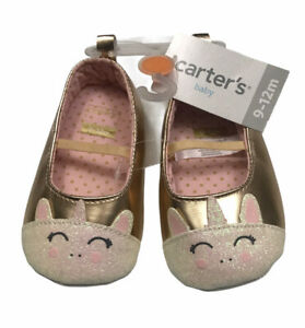 Carters 9-12 Girls Slip On Baby Shoes