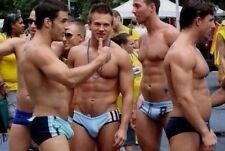 Shirtless Male Beefcake Muscular Jocks Speedo Shorts Hunks Group PHOTO 4X6 F400