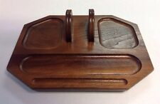 Vintage Wood Caddy Vanity Tray By Deco Decatur Industries Inc Desk Organizer
