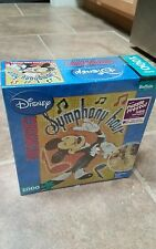 Disney Mickey Mouse RARE Photomosaic Jigsaw Puzzle Symphony Hour Buffalo Games