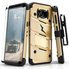 Samsung Galaxy S8 Plus S8+ Zizo BOLT Case Cover Holster Tempered Glass