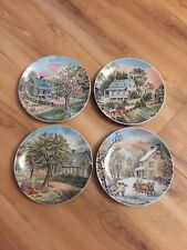 Vintage 4 Four Seasons Currier & Ives 6 1/2� Collector Appetizer Display Plates