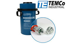 TEMCo Hollow Hydraulic Cylinder Ram 60 TON 4 In Stroke 5 YEAR Warranty