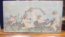 ancienne plaque terre cuite emaillee mauduit haut de porte putti amour angelot 2