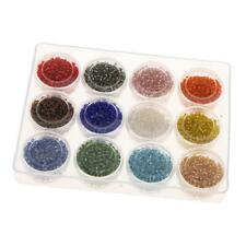 3600Pcs 2mm Round Czech Glass Seed Spacer Beads Jewelry Making DIY Crafts