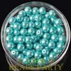 New 144pcs 8mm Round Czech Glass Pearl Loose Spacer Beads Lake Blue
