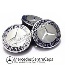 Wheel center hub caps emblem 75mm Mercedes Nabenkappen Nabendeckel Radkappen