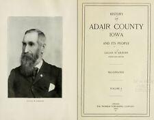 1915 ADAIR County Iowa IA, History and Genealogy Ancestry Family Tree DVD B38