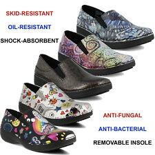 Women Spring Step Ferrara Slip On Shoes Slip Resistant Health Care Clogs NEW