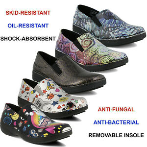 Women Spring Step Ferrara Slip On Shoes Slip Resistant Health Care Clogs NEW