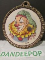 Artini Hand Painted Twin Etched Sculptured Engraving 4D Wall Decor Clown #20082