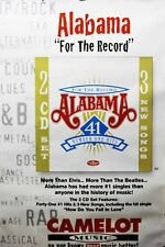 Alabama 1998 For The Record 41 #1 Hits Promo Poster Authentic Original