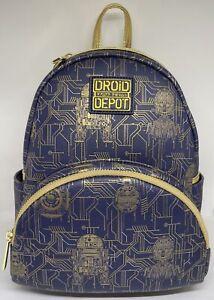 Disney Parks Star Wars Galaxy's Edge Droid Depot R2-D2 C-3PO Backpack New Tag