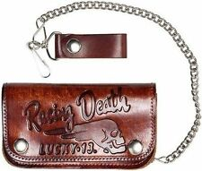 LUCKY 13 DEATH RACER ANTIQUE CAR CHOPPER CHAIN WALLET MENS MOTORCYCLE TATTOO