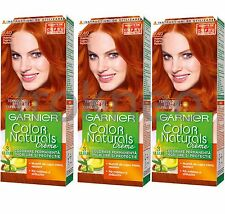 3pcs Garnier Color Naturals 7.40 Passionate Copper Color hair