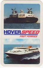 Playing Cards 1 Swap Card - Vintage HOVERSPEED Channel Ferry Shipping HOVERCRAFT