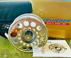 Pflueger Trion 1912 Salmon Fly Reel with Makers Case Box & Backing
