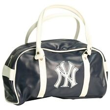 New York Yankees Navy Blue Two Tone Bowler Drop Handle Purse Handbag