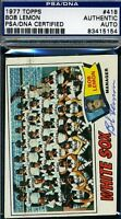 Bob Lemon White Sox Signed Psa/dna 1977 Topps Certified Authentic Autograph
