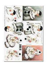 3D Bogen Motivbogen Etappenbogen Bastelbogen 3D Bild Harlekin Pierrot (011)