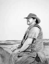 Australian Artist Cindy Wider's  pencil & charcoal titled 'King of the land'.