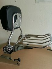 Backrest Sissy Bar Luggage Rack + Docking Harley Davidson Softail Deluxe 05 UP