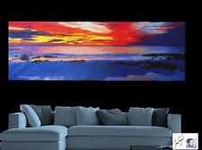 australia sunset seascape abstract landscape ocean large painting aboriginal
