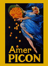 Bitter Amer Picon Alcoholic Beverage Fashion Lady Vintage Poster Repro FREE S/H