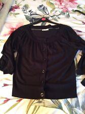 ladies black cardigan size 16
