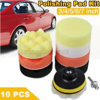 Car Buffing Pads Polishing Sponge Buffer Set Waxing Foam Polisher Kit for Drill~