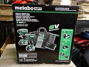 Metabo HPT Hitachi Power Tool 2-Tool 18-Volt Brushless 18V Combo Kit KC18DBFL2TM