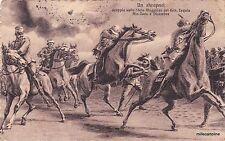 LIBIA - AIN-ZARA - UN SHRAPNEL  SCOPPIA SU STATO MAGGIORE DEL GEN. LEQUIO 1912