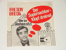 "Freddy Brock - 7"" Single - Der Supernachbar - Klopf dreimal - TWR 10 145 AU"