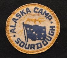 1940s GREAT ALASKA COUNCIL 355 523 549 FLAP W1N W1B OA CAMP SOURDOUGH FELT PATCH