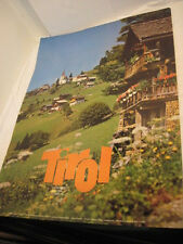 OLD TIRO AUSTRIA POSTER HOUSE ON HILL SIDE