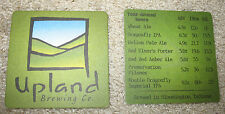 2 UPLAND BREWING CO. Beer Beverage Coasters NEW Advertising Bloomington, Indiana