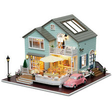 DIY Wooden Dolls house Miniature Kit w/ LED Light-Dollhouse/accessoires/English