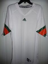 NO TAGS  ADIDAS MIAMI HURRICANES WHITE BLANK JERSEY SIZE MEDIUM