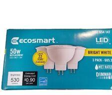 GU5.3 EcoSmart 50-Watt Equivalent MR16 Dimmable LED Bulb Bright White (3-Pack)
