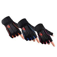 Mens Weight Lifting Gym Fitness Workout Training Exercise Half Gloves QO