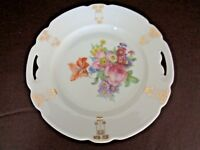 Floral Pattern Two Handle Porcelain Dessert Platter (Cat.#3T014)