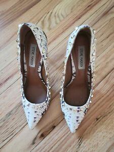 Shoes Steve Madden Proto Women's Size 7.5 Multicolor Snakeskin Pointed Toe Heels
