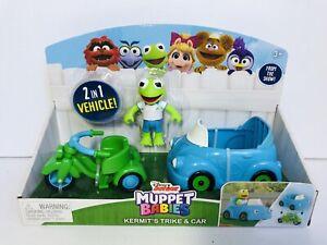 Muppet Babies 2 in 1 Vehicle, Hermet The Frog Figurine Cars Pretend Play New