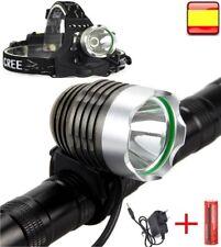 Linterna para bicicleta recargable y frontal 2 en 1 DE 5000LM CREE XM-L U2 LED